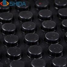 15*5mm 180 pièces anti dérapant gel de silice en caoutchouc en plastique pare chocs amortisseur amortisseur 3 M auto adhésif Silicone pieds tampons noir blanc