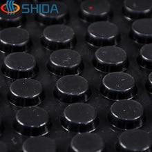 15*5mm  180pcs anti slip Silica gel rubber plastic bumper damper shock absorber 3M self adhesive Silicone feet pads black white