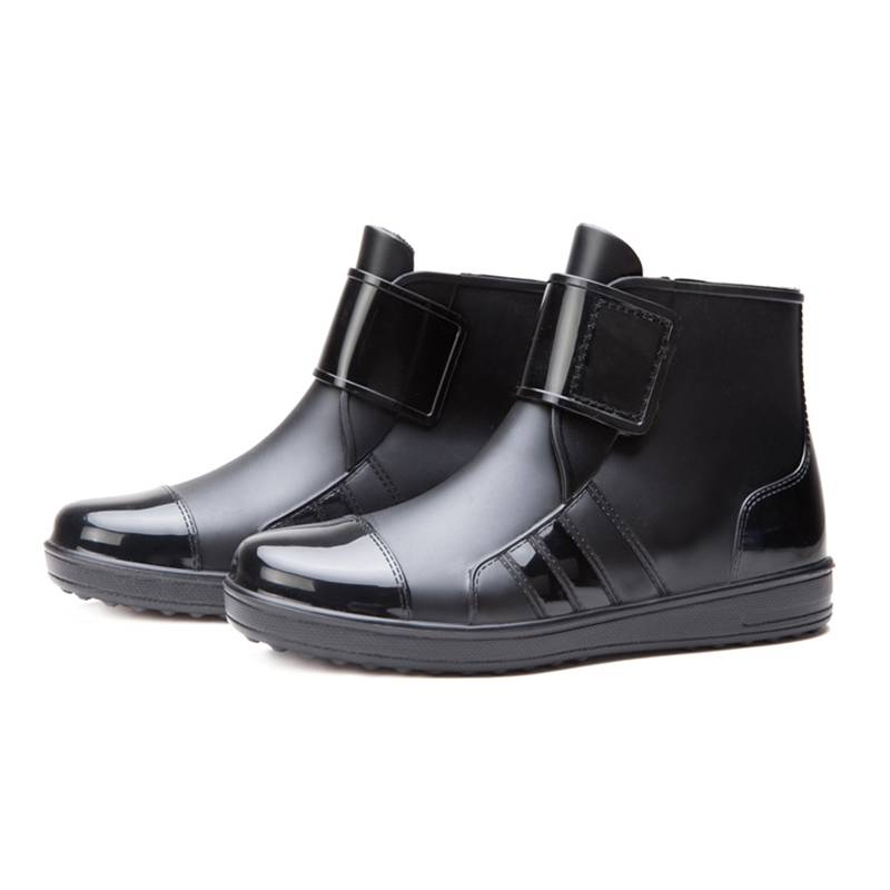 100% Motorcycle Waterproof boots PVC Rubber Non-slip Rain boot Black Men Motorbike Riding Racing shoes protective Gear boats 1