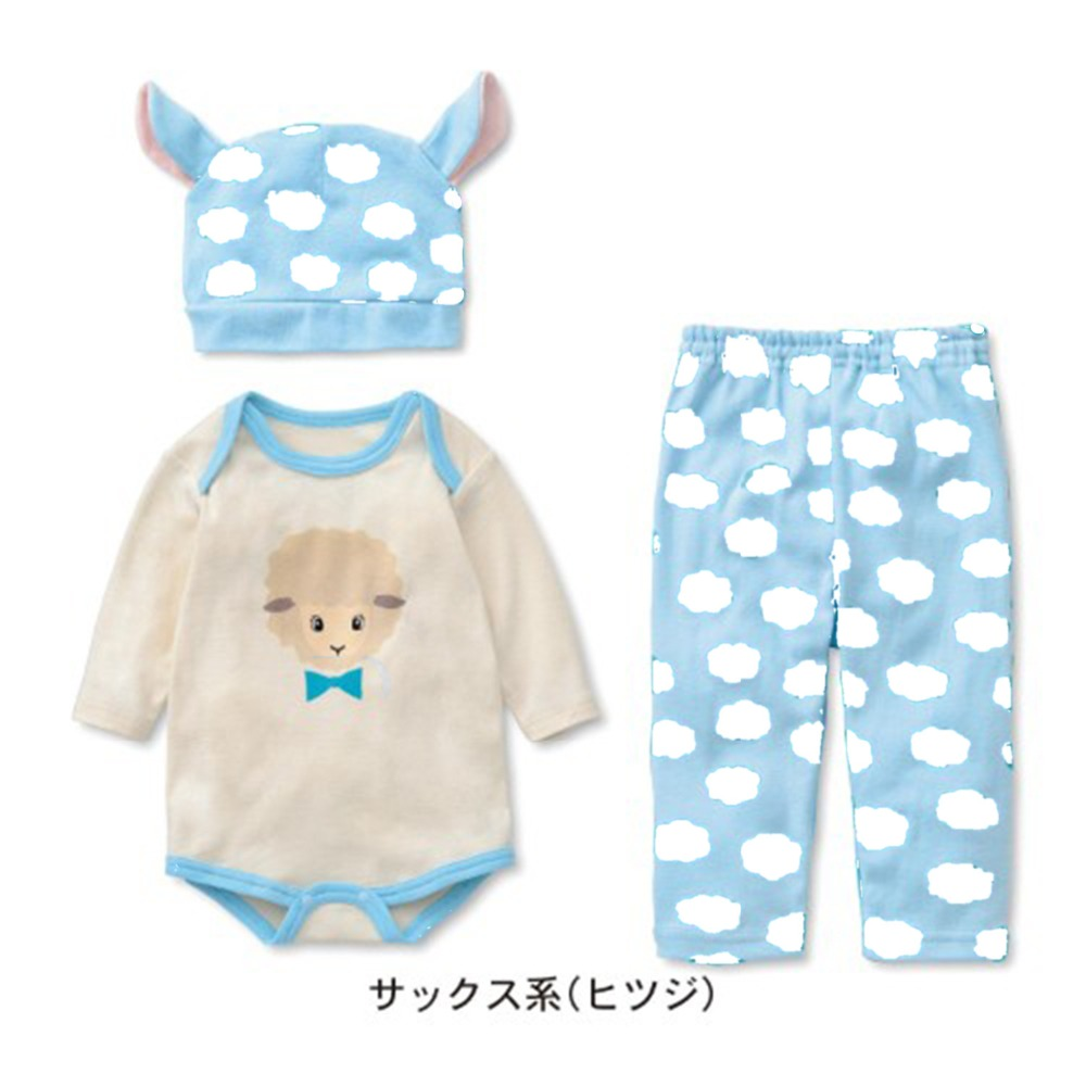 Baby rompers set long sleeve cotton baby infant cartoon Animal newborn baby clothes romper+hat+pants 3pcs clothing sets fashion baby clothes cartoon baby boy girl rompers cotton animal and fruit pattern infant jumpsuit hat set newborn baby costumes
