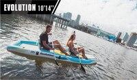 Nuevo Envío Gratis Aquamarina detacableinflable estándar de tabla de paleta y bote de Kayak juntos tabla de surf con bolsa fácil