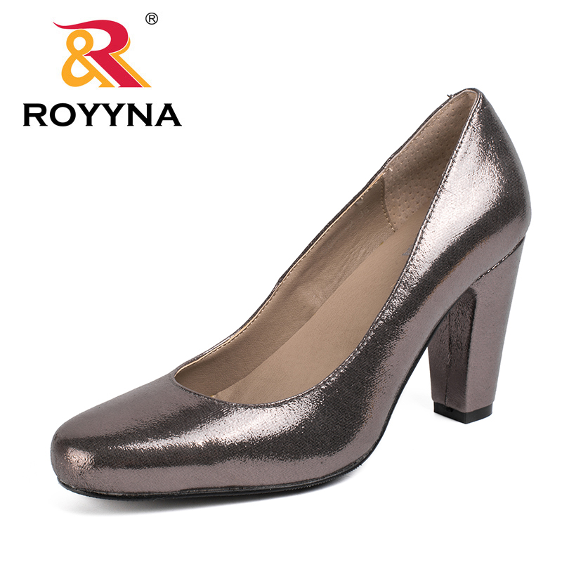 ROYYNA 2017 New Arrival Women Pumps Shoes Shallow Women Shoes Square Heels Women Casual Shoes Comfortable Fast Free Shipping royyna new sweet style women sandals cover heel summer gingham women shoes casual gladiator ladies shoes soft fast free shipping