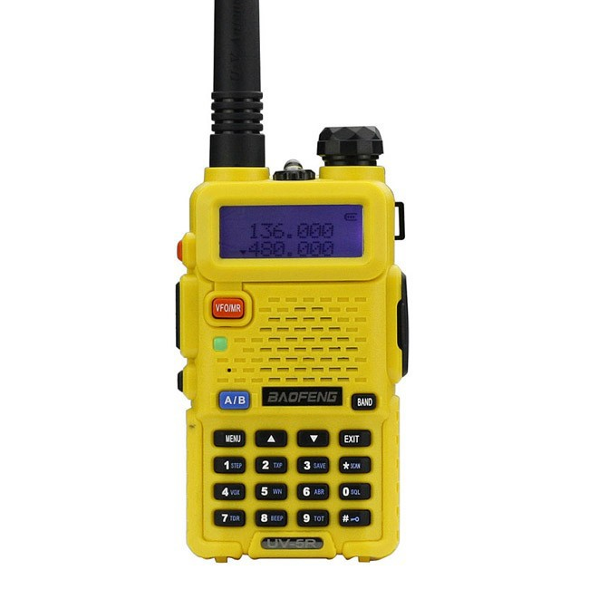 Pofung / Baofeng UV-5R Two-Way Radio * YELLOW * 136-174 / 400-480Mhz, навушнікі ўключаны