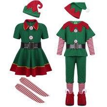 2c1efd49cf434 2018 enfants garçon fille noël elfe Costume enfants vert elfe Cosplay  Costumes carnaval fête fournitures pourim