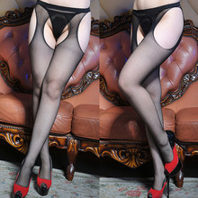 Women Stocking Pantyhose Tights Open-Crotch Intimates Fishnet Fashion -Y5