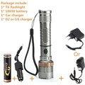 Cree XML-T6 фонарик мощный масштабируемые водонепроницаемый светодиодный фонарик аккумуляторная кемпинг вспышка света комплект