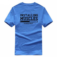 "Men's ""INSTALLING MUSCLES"" Printed Cross-fit T-shirts"