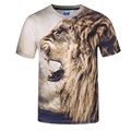 Mr 1991INC Miss GO New 100 Natural Design Tiger T Shirt Men 3D Print Breathable Short