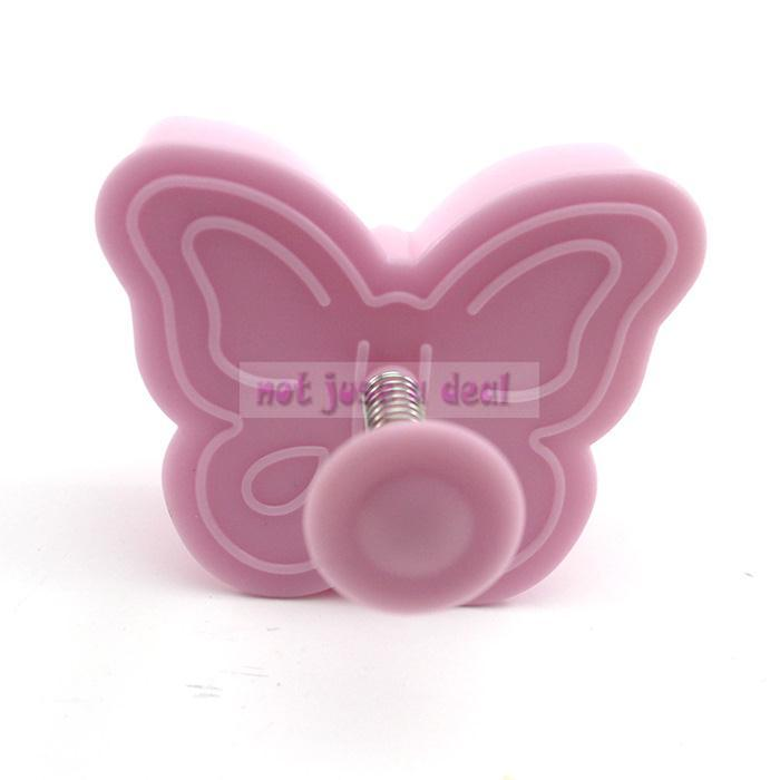 2pcs 3D Printed Cute Butterfly Shape Kids Favourite Fondant Decorate Sugarcraft Cookie Molds