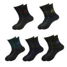 5Pair Fashion All-Match Thermal Wool Socks Spring/Autumn Combed Cotton Men's Socks Male Casual In Tube Business Dress Socks