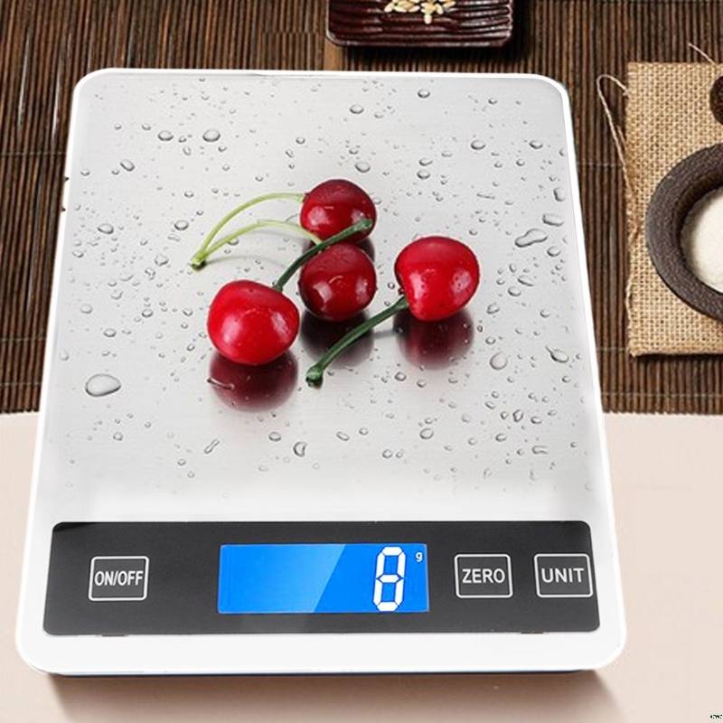 OOTDTY Digital Kitchen Scales 22lb/10kg Charging Touch Button Waterproof Cooking Scale image