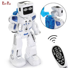 Smart RC Robot Intelligent Programming Remote Control Water Robot Toy Action Figures Biped Humanoid Robot For Kids Birthday Gift(China)