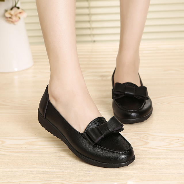 Spring and autumn new women's fashion shoes lady casual shoes comfortable non-slip black flat shoes free shipping
