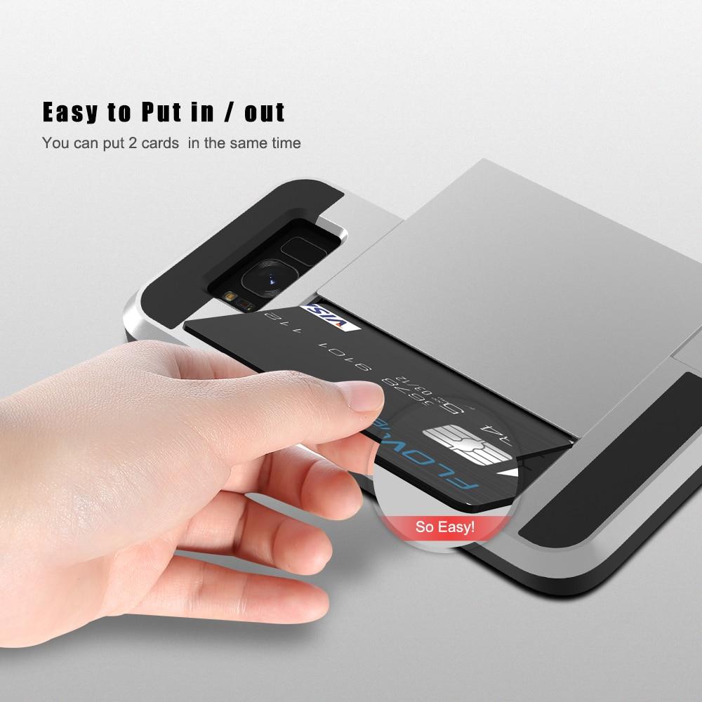Funda de armadura de titular de tarjeta Kisscase para Samsung Galaxy - Accesorios y repuestos para celulares - foto 4