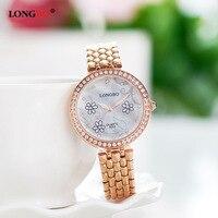 Aliexpress Explosion Of Europe Luminous Quartz Watch Waterproof Fashion Diamond Ladies Watch With Steel Rose 6023