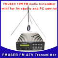 Fmuser CZE-15B аудио жк-fm-радио-передатчик пк управления беспроводной 1/4 волна внешняя антенна с набором бесплатная доставка