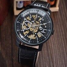 GOER марка мужская механическая автоматическая наручные часы мужской водонепроницаемые Часы Скелет водонепроницаемый Световой