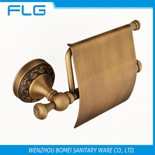Free Shipping FLG100208 Paper Holder Wall Mounted Antique Brass Lavatory Tissue Holder Art Curving Retro Style