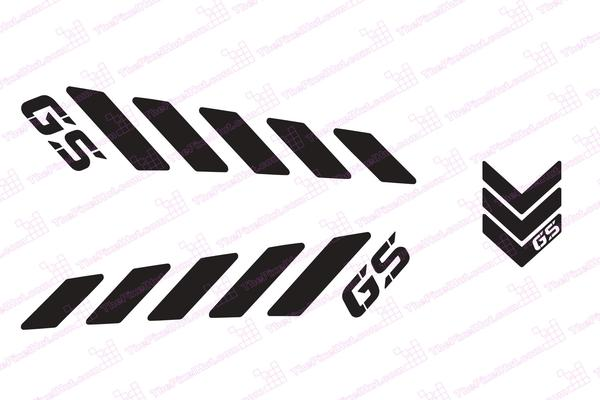 GS Reflective Safety Decal Kit GS For Arai XD Motorcycle - Motorcycle helmet decals kits