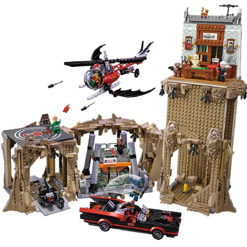 Lepin 07053 2566pcs Genuine DC Batman Super Heroes MOC Batcave Educational Building Blocks Bricks Toys Gift for children 76052 building blocks super heroes back to the future doc brown and marty mcfly with skateboard wolverine toys for children gift kf197