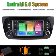 Android 6 0 Octa core CAR DVD PLAYER for FIAT DOBLO AUTO font b Radio b