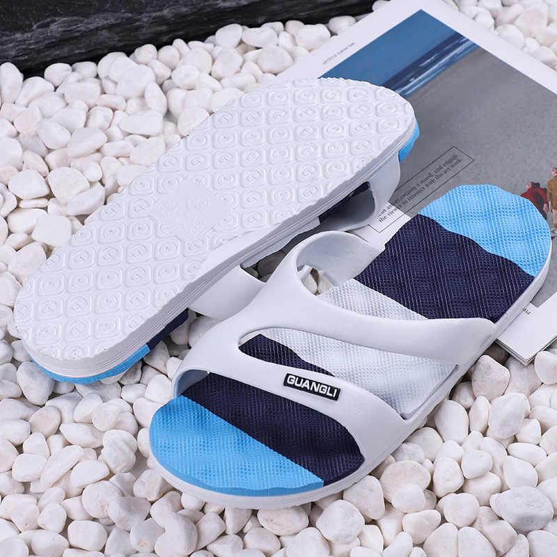 รองเท้าแตะชายเกาหลีรุ่นชายฤดูร้อน One - word รองเท้าแตะ Anti - skid รองเท้าแตะชายหาดชายผู้หญิงรองเท้าแตะ