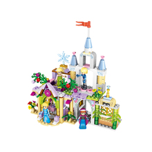 37020 261pcs building blocks plastic toys 4 in 1 Princess castle kids toys educational baby kid toys wholesale