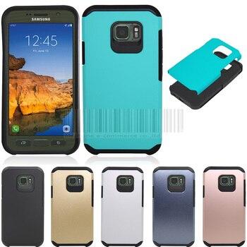 Funda de teléfono para Samsung Galaxy S7 activa g891 2in1 anti-choque doble protector híbrido impacto caso duro cubierta con películas + Lápices para pantalla táctil
