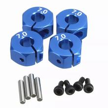 RC Aluminum 7.0 Wheel Hex 12mm Drive 4P for HSP HPI Tamiya RC MODEL Car 4pcs 12mm wheel hex drive hub adapter combiner coupler with pins screws for hsp hpi redcat tamiya traxxas rc4wd d90 1 10 rc car