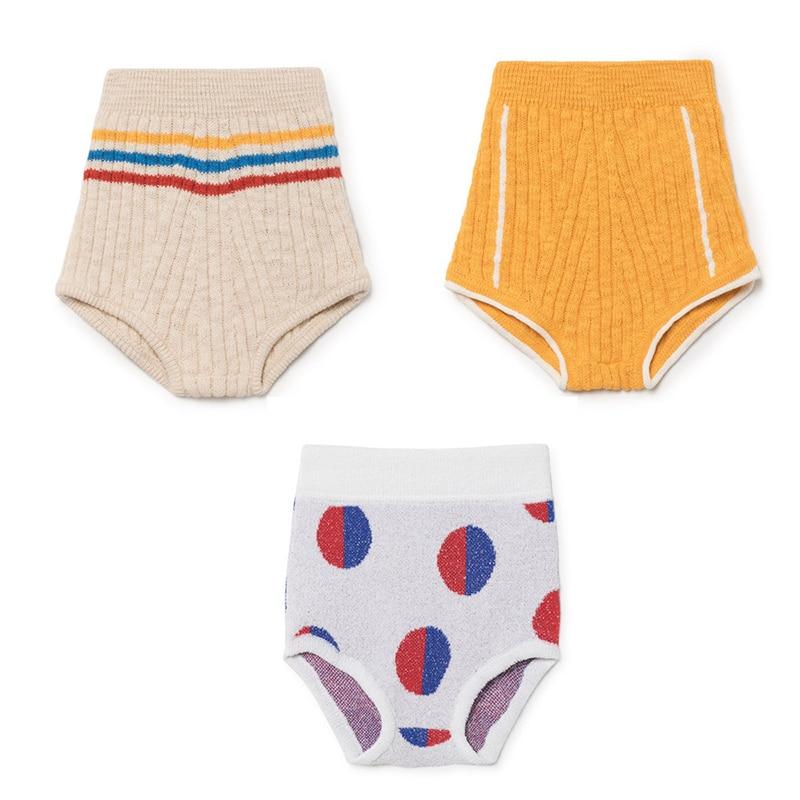 EnkeliBB 2018 Summer BOBO CHOSE Knit Pants For Boys Girl New Born Baby Summer   Shorts   Kids Girls Brand Clothes Summer Knit Bottom