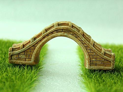 Zakka Bonsai Resin Large Stone Bridge Brown Miniature Garden Fairy Ornament  Plant Pot Decor(China