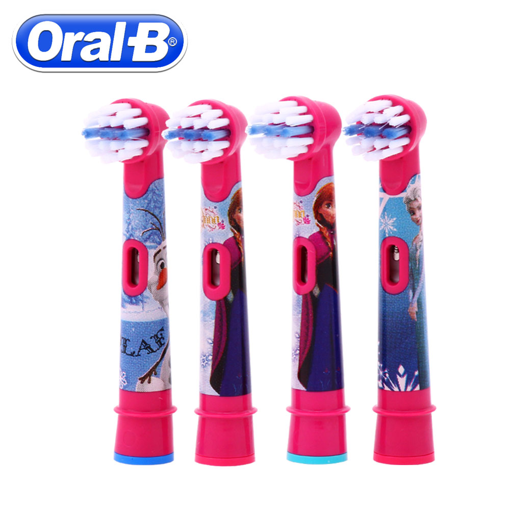 4pc/Pack Oral B Children Electric Brush Heads Frozen Replacment Rotation Braun Vitality Toothbrush Heads Oral Hygiene Brush Head