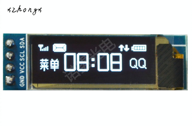 XNWY 0.91 inch 128x32 I2C IIC Serial Blue OLED LCD Display Module 0.91 12832 SSD1306 LCD Screen for Arduino