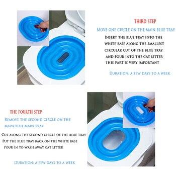 Пластиковый тренажер для туалета для кошек, Обучающий набор для туалета, коробка для туалета для щенков, кошек, коврик для туалета, для очист...