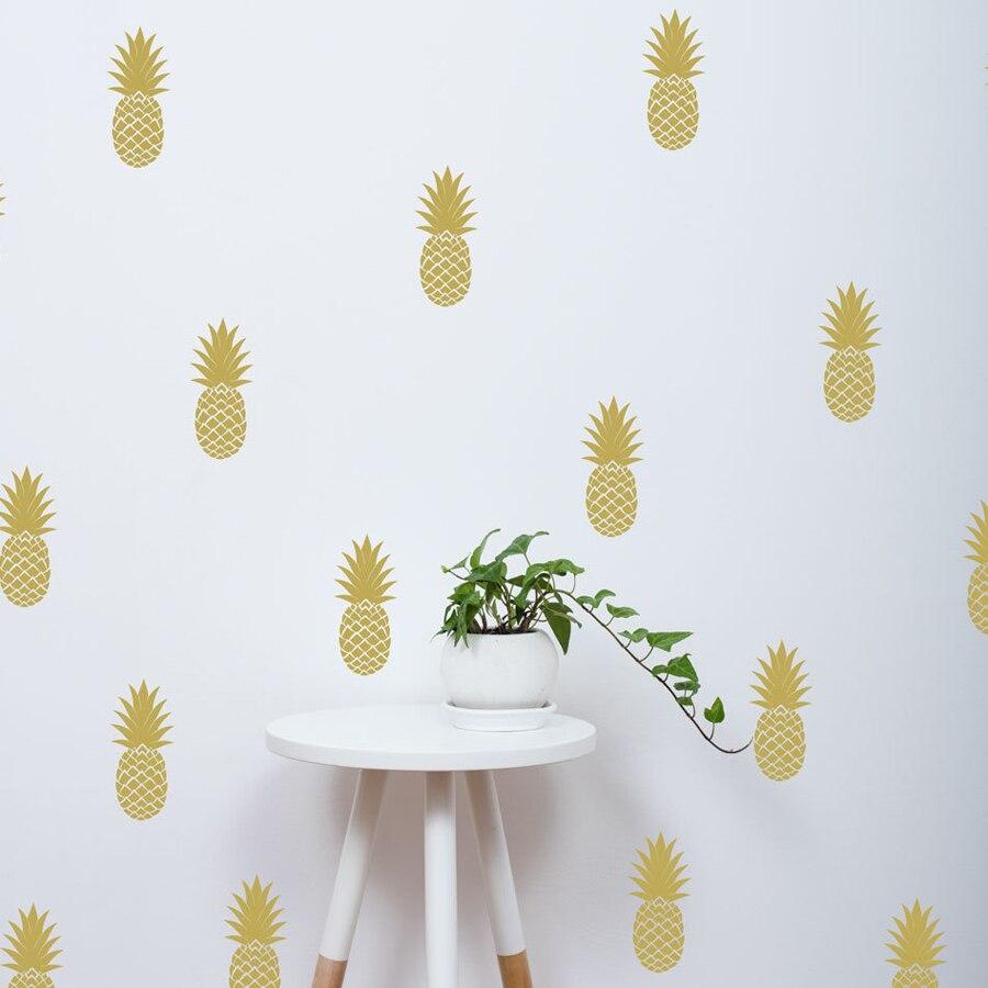 Wunderbar Wandtattoo Gold Dekoration Von Schöne Ananas Wandtattoo, Große Ananas Aufkleber Kindergarten