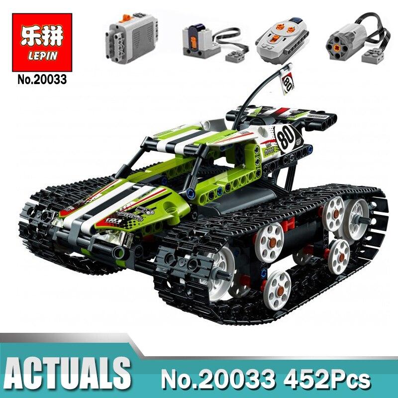 Lepin 20033 télécommande voiture compatible Legoinglys Technic 42065 RC suivi Racer modèle blocs de construction jouets