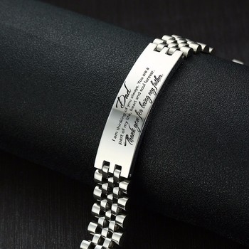 Men Bracelets Free Personalize Engraving We Will Always Remember You My DAD Silver Color pulseira masculina Fathers Day Gifts