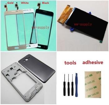 цена на For Samsung Galaxy Grand Prime SM-G531H G531H/DS Touch Digitizer Sensor + LCD Display Screen + Housing bezel Frame+Battery Cover