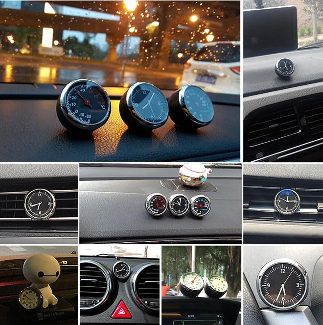 Accesorios del coche Del Automóvil de cuarzo reloj reloj/Termómetro/Higrómetro t
