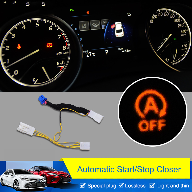 QHCP Car Connector Automatic Start Stop Default Off Device Closer Module Harness Wire Fit For Toyota Camry 2018 Car Accessories