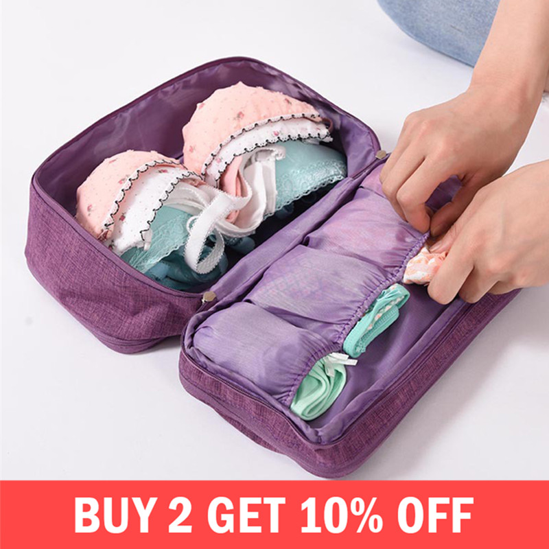 Bra Underware Drawer Organizers Travel Storage Divider Boxes Bag Socks Cloth Case Clothing Wardrobe Accessories Supplies Items(China)