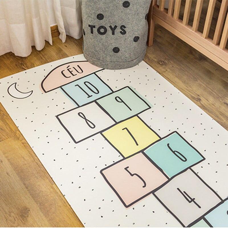 Fournitures maternelles et infantiles tapis de jeu tapis de jeu enfants à sauter grille tapis de sol numérique ramper antidérapant