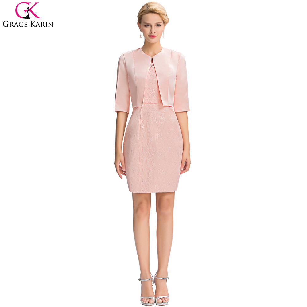 Grace karin 2017 new short cocktail dresses embroidery lace half grace karin 2017 new short cocktail dresses embroidery lace half sleeve mother of the bride dress with jacket cocktailkleider in cocktail dresses from ombrellifo Gallery