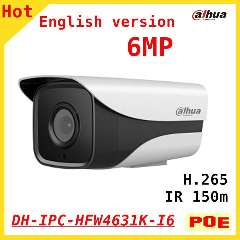 English version DAHUA 6MP IP camera DH-IPC-HFW4631K-I6 Bullet IR 150M Waterproof outdoor POE security camera IPC-HFW4631K-I6 dahua security ip camera outdoor camera