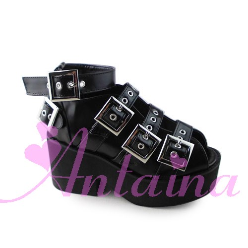 Princess sweet lolita shose Lolilloliyoyo antaina gothic lolita shoes custom platform elevator 1429 buckle cosplay gothic and lolita