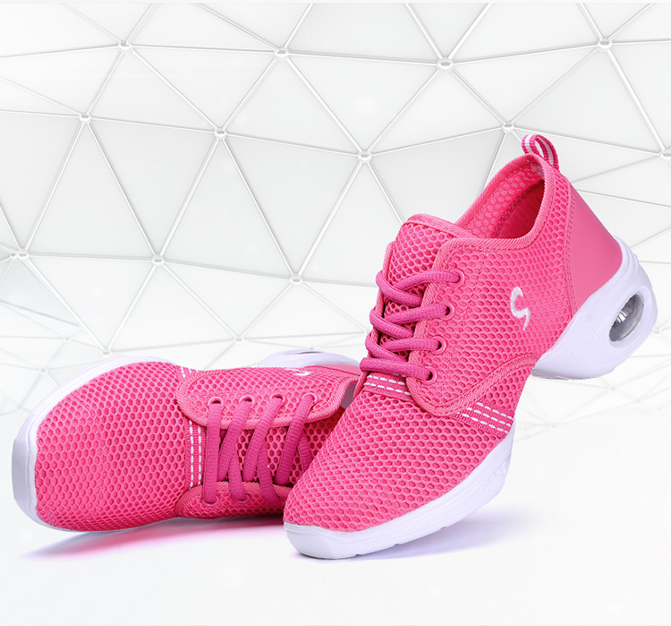 Detalle Comentarios Preguntas sobre 2019 nuevo mujeres modernas zapatillas  de baile de Jazz zapatos de baile zapatos de malla transpirable tamaño 35  40 ... 48c2079f171