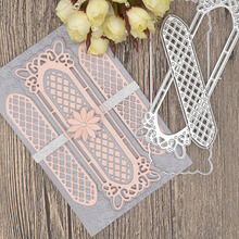 Rectangle Lace Frame Metal Cutting Dies for Scrapbooking Card Album Decoration making Flowers