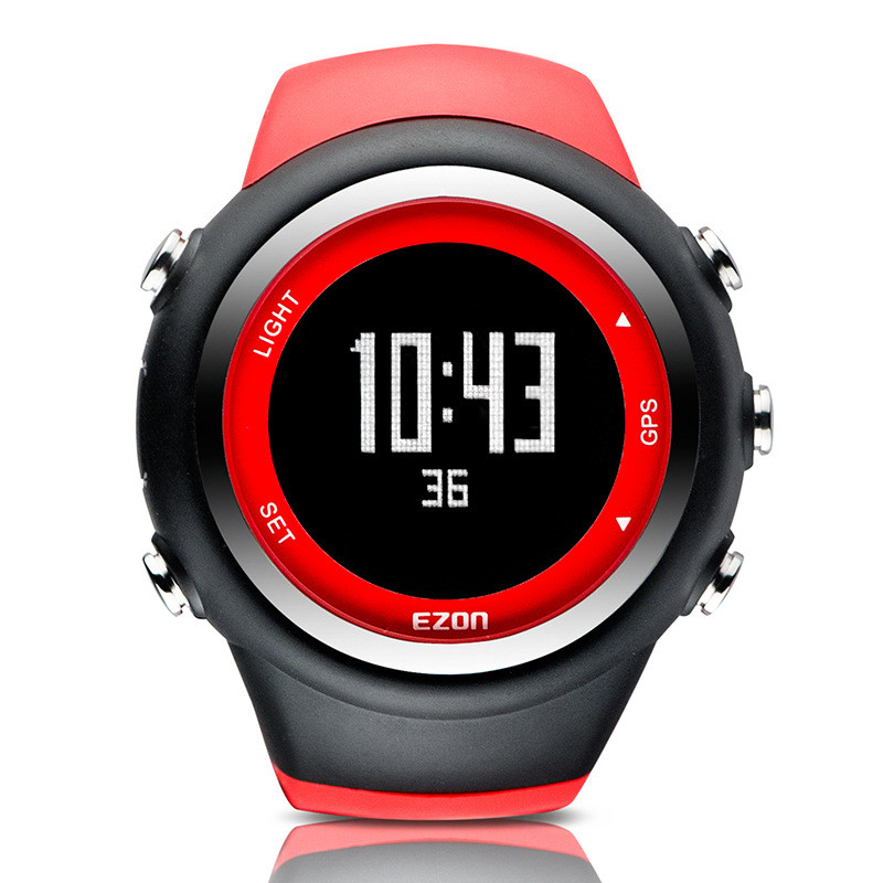 EZON outdoor leisure font b sports b font watch GPS timing watches for men in red