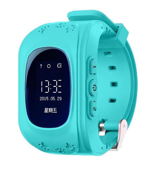 KOBWA Q50 Garoto Inteligente relógio GPS GSM Relógio de Pulso SOS Chamada Location Finder Localizador Rastreador para o miúdo Anti Perdido Monitor Do Bebê Presente