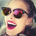 Мужская Площадь Мужские Солнцезащитные Очки Женщины Luxury Brand Дизайнер Солнцезащитные Очки Для Мужчин Женщины Дамы Солнцезащитных Очков Старинные Черный Полукадр